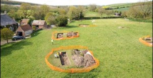 roman villa discovered while laying electrical cables