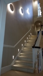 Landsdown Crescent LED Lighting Stairs